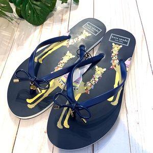 Kate spade sandals flip flop Nova llama camel bow
